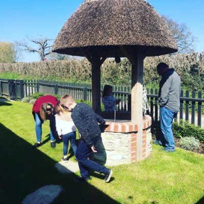Easter egg hunt at English Cottage Vacation