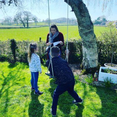Easter egg hunt, English Cottage Vacation